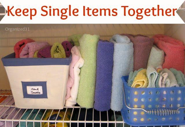 Organized 31: 3 Steps to an Organized Linen Closet