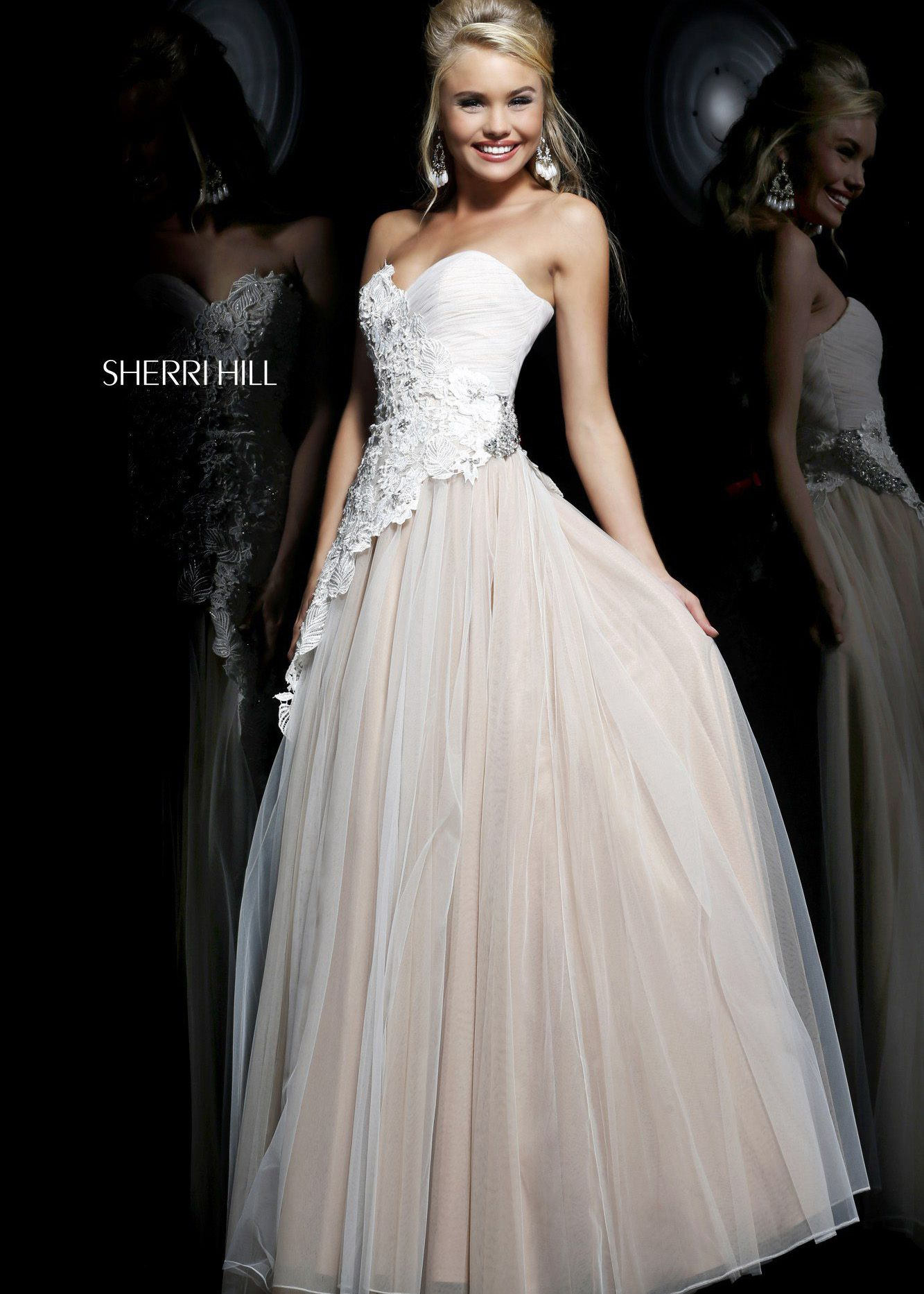 Shop new sherri hill prom dresses find sherri hill ivory