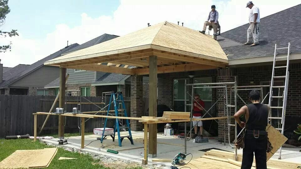 Amazing New Patio Cover Construction