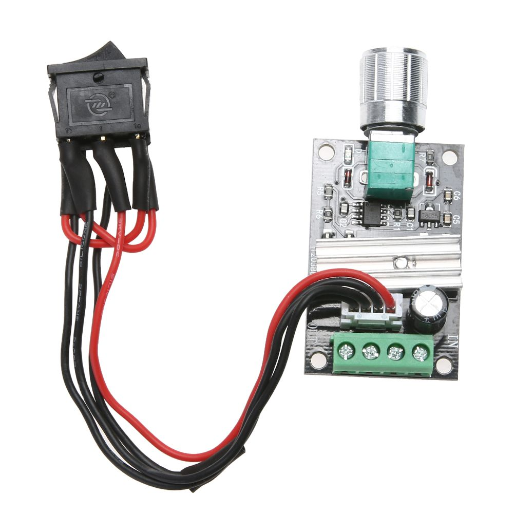 6V 12V 24V 3A PWM DC Motor Speed Controller Forward Reverse /w ...