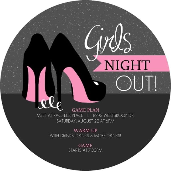 Pink & Black Girls Night Out Invitation Pure romance party Games for ladies night Moms