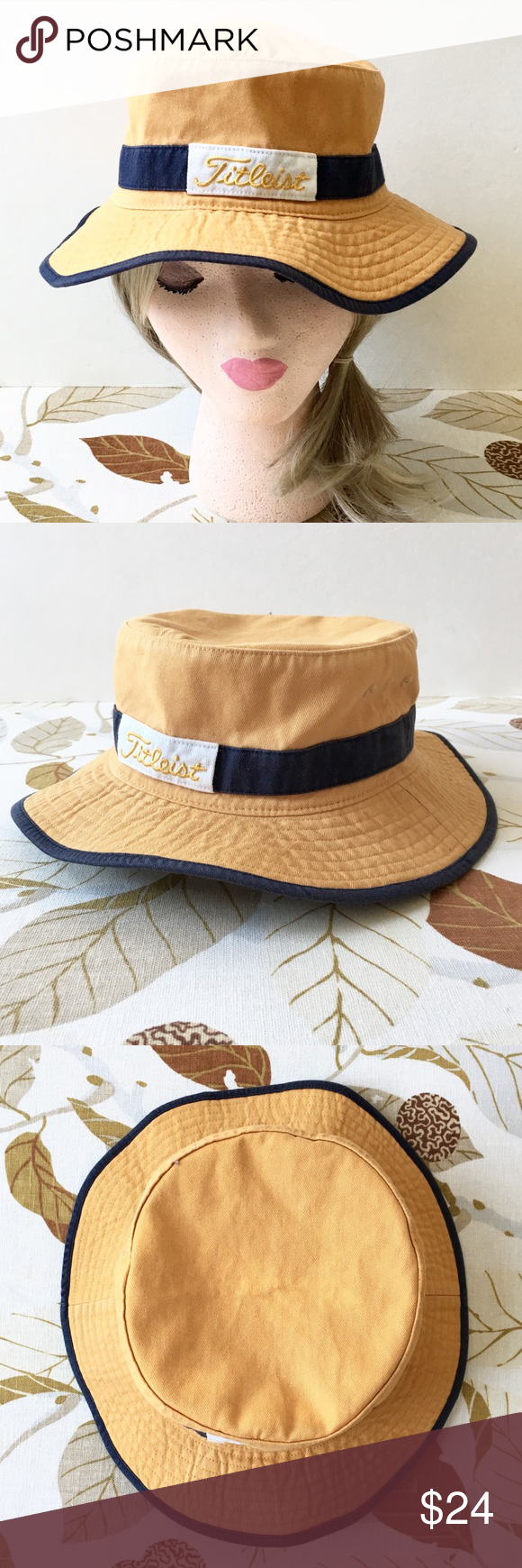 """60f300f9f28 """"Titleist"""" Men s Small Medium Cotton Bucket Hat Can be unisex. Additional  information and measurements to be added soon. Please feel free to ask  questions"""