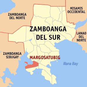 English Map of Zamboanga del Sur showing the Politics