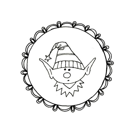 Christmas Elf Gnome Embroidery Pattern Digital Downloadable PDF ...