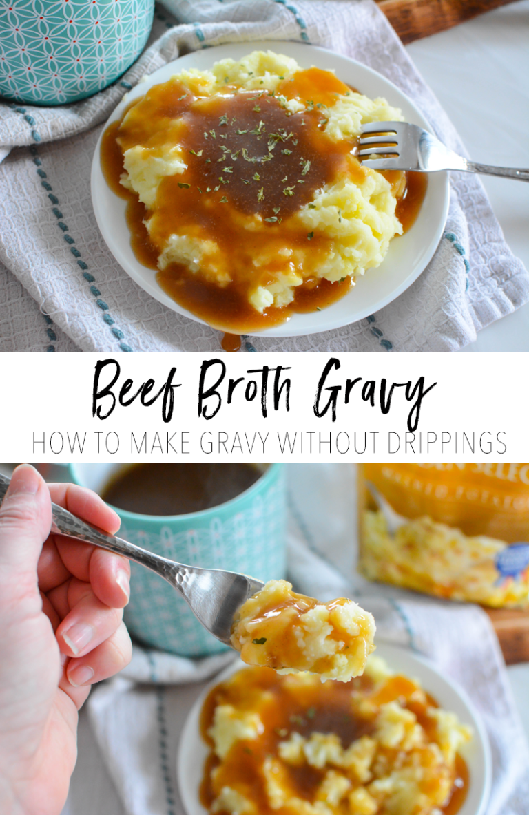 Beef Broth Gravy How To Make Gravy Without Drippings Holly Marie Sosa Beef Gravy From Broth Beef Gravy Recipe Gravy For Mashed Potatoes
