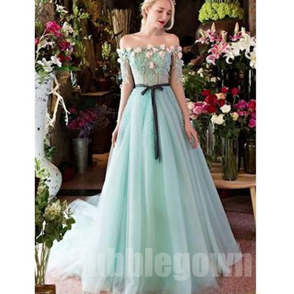 Water Resistant Woods This Is What You Should Know: Off The Shoulder Charming Half Sleeves Long Evening Prom