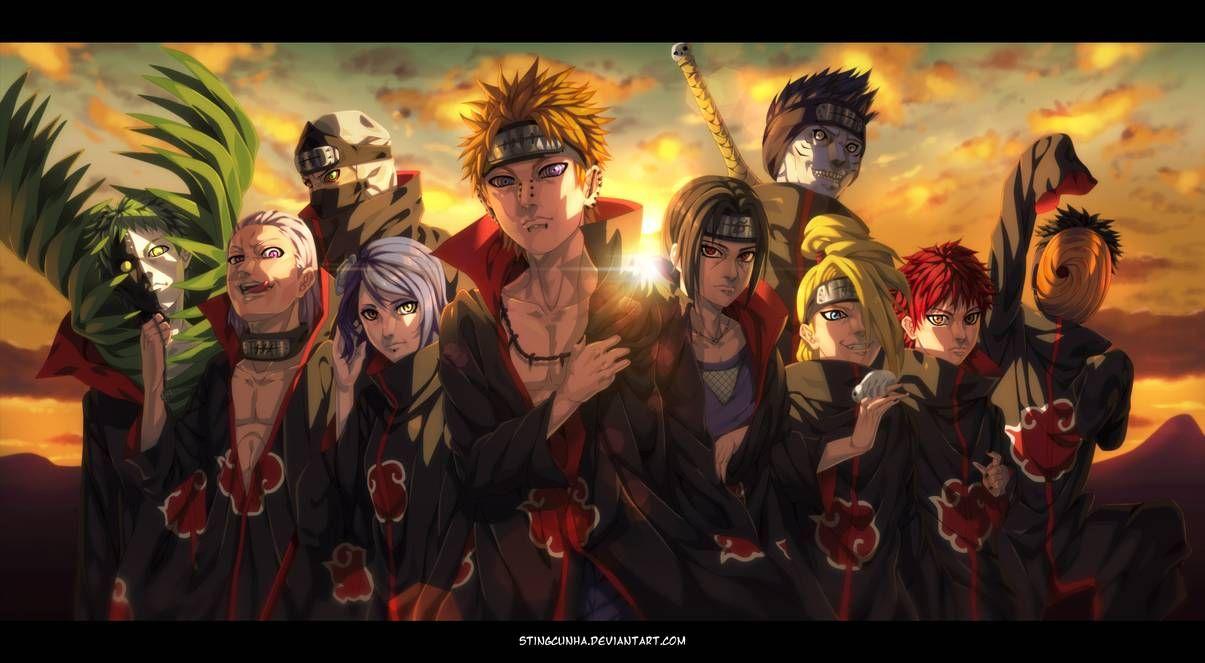 Akatsuki Organization Naruto Shippuden By Stingcunha 1080p Anime Wallpaper Hd Anime Wallpapers Anime Wallpaper