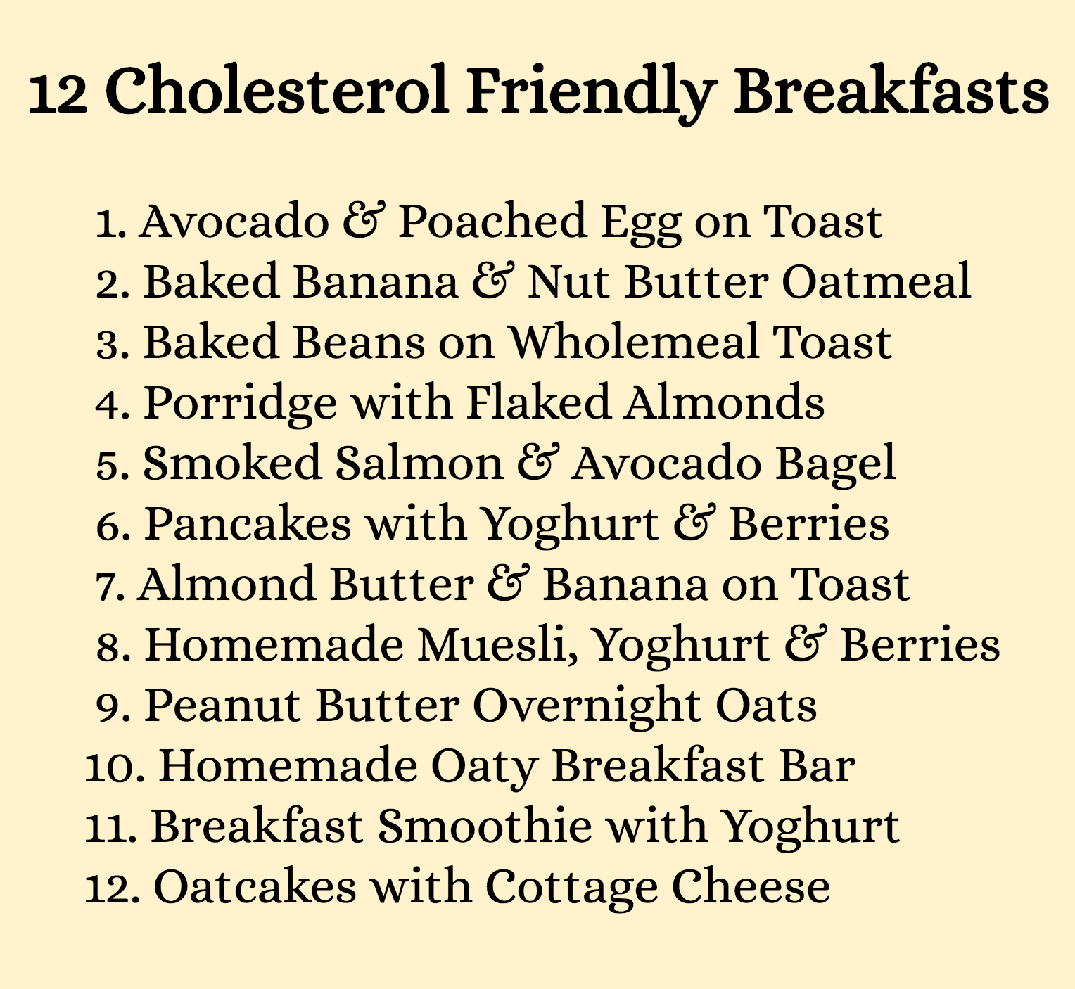 12 delicious breakfasts that will help to reduce cholesterol low 12 delicious breakfasts that will help to reduce cholesterol forumfinder Images