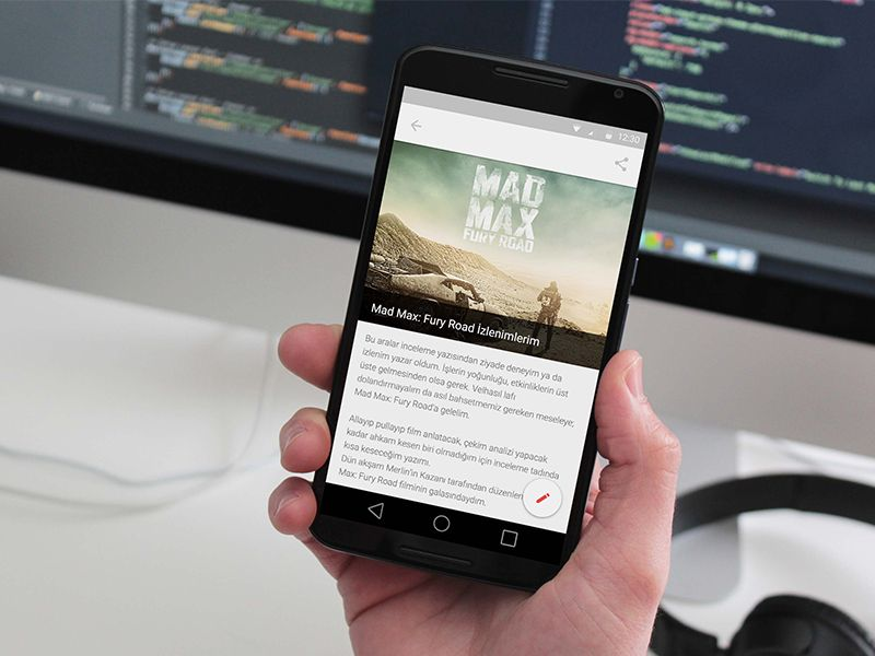 Protechman mobile app free blog template sketch with