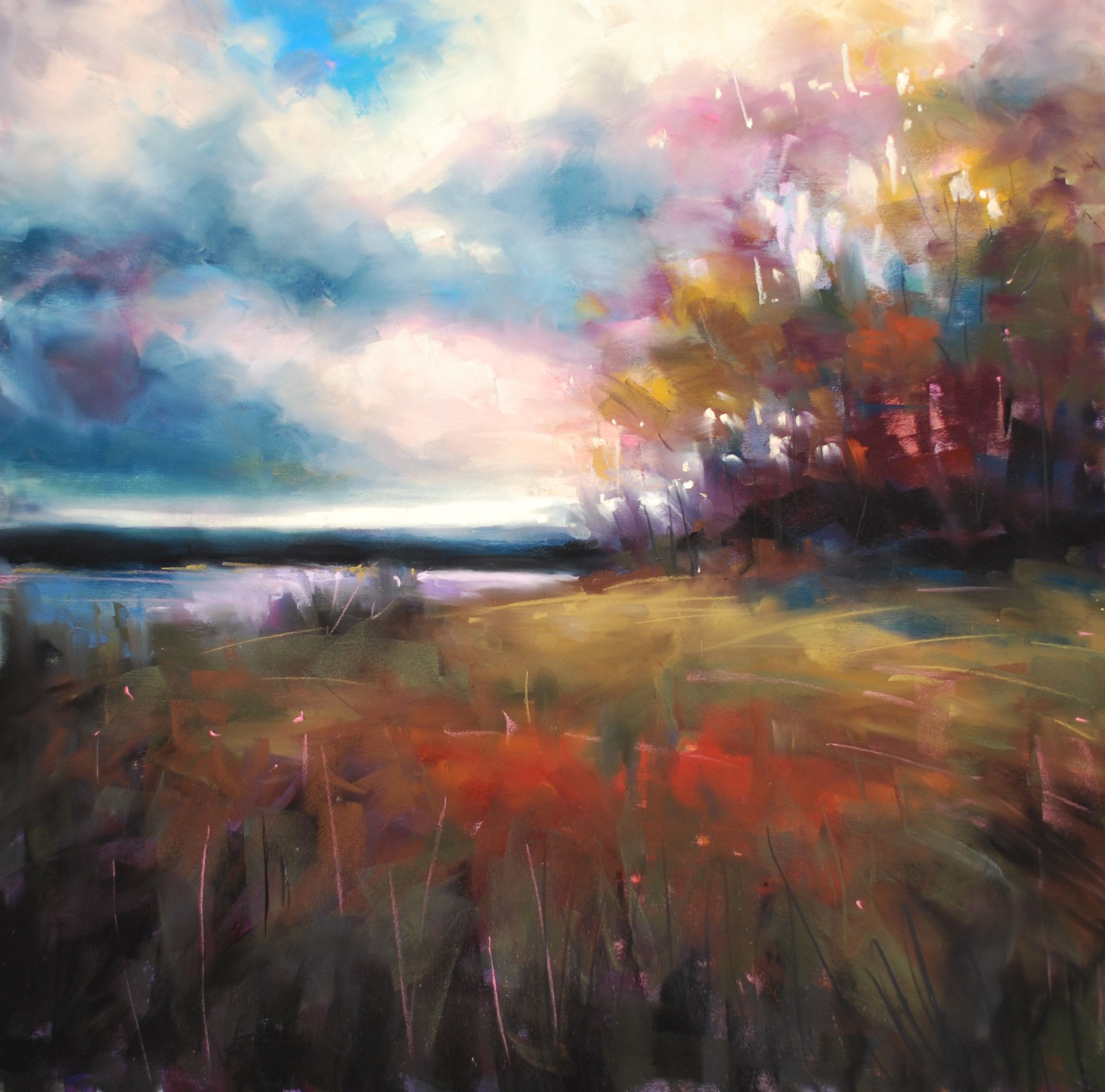 Pin By Painting Lessons With Marla On Landscapes In Pastel Landscape Paintings Abstract Landscape Pastel Art