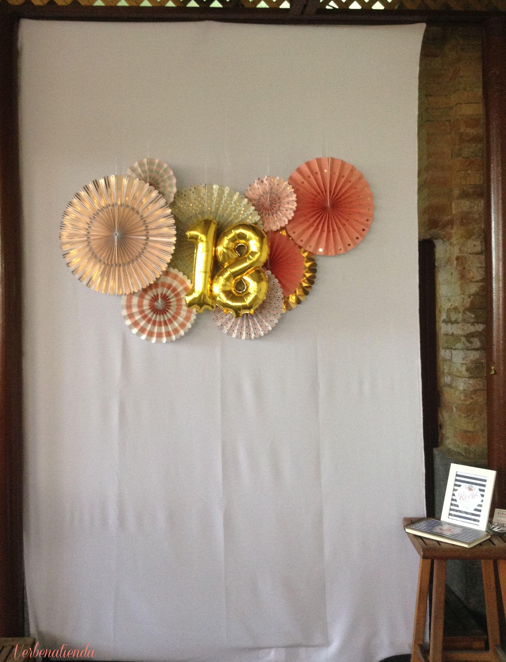 Pinwheels backdrop 18 birthday ideas - 18 cumpleanos ideas ...
