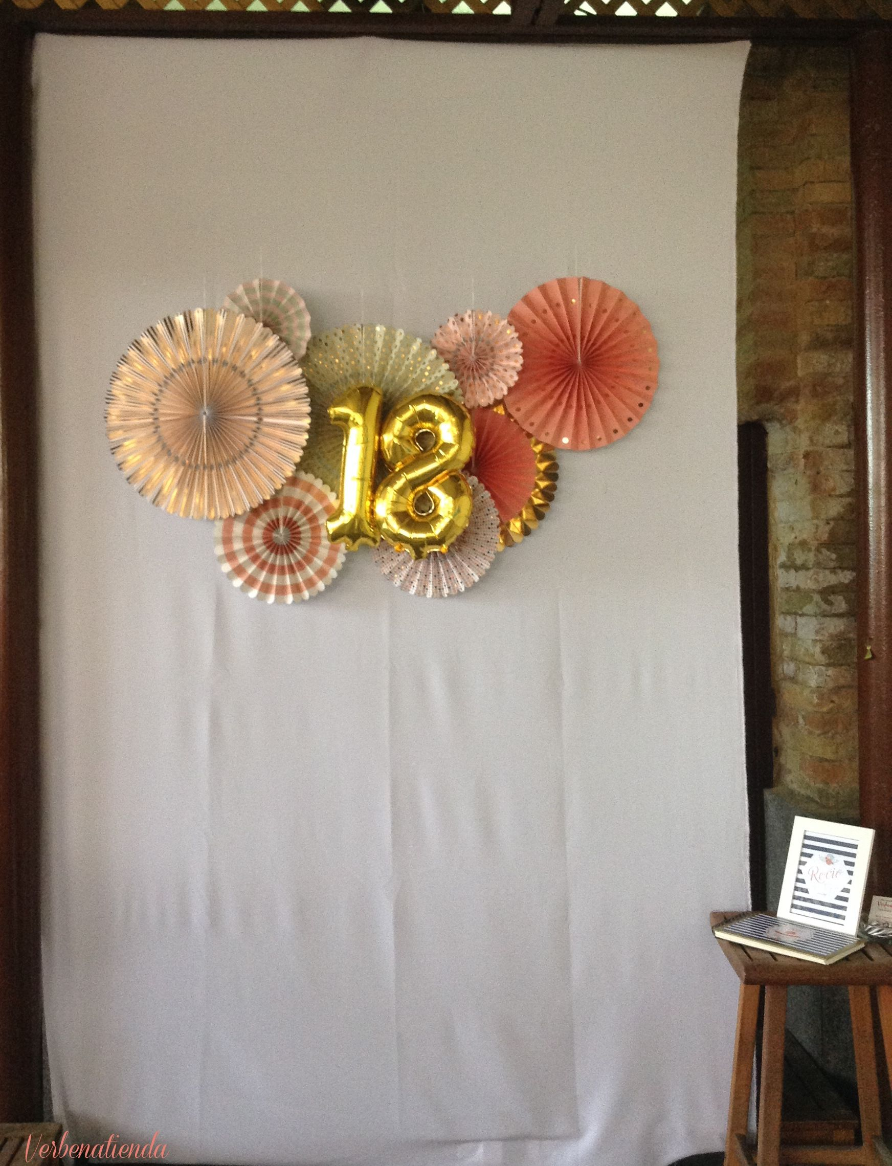 Pinwheels backdrop 18 birthday ideas - Decoracion fiesta 18 cumpleanos ...