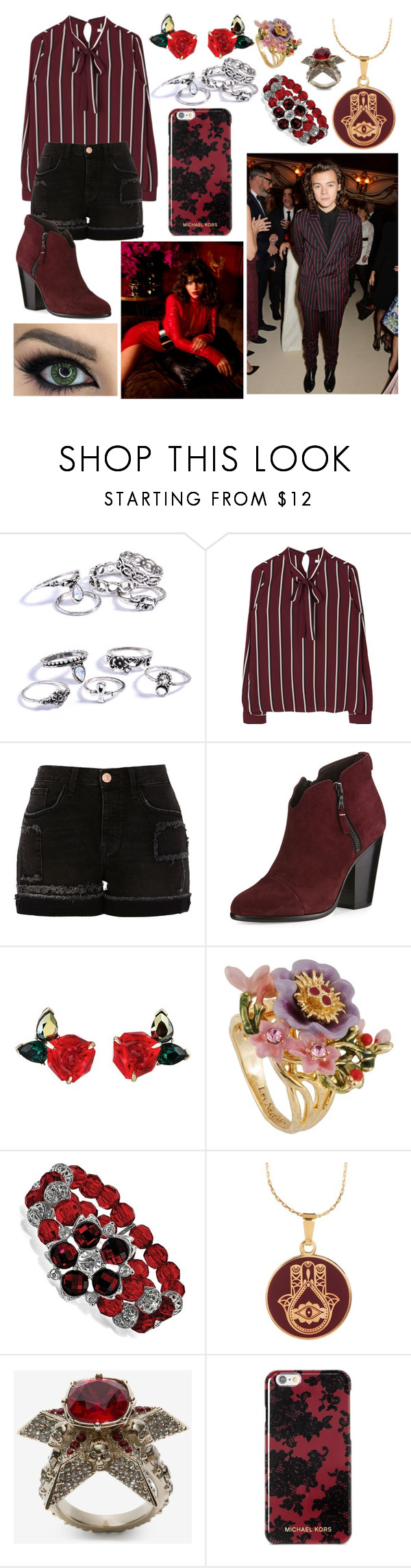 """""""SOOz."""" by nerdyhesc ❤ liked on Polyvore featuring River Island, rag & bone, Les Néréides, 1928, Alex and Ani, Alexander McQueen and Michael Kors"""