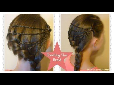 Shooting Star Braid Hairstyle Tutorial Youtube Formal Hairstyles For Long Hair Braided Hairstyles Hair Styles