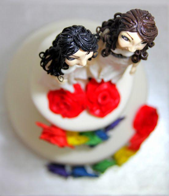 SORELLAS CAKES TARTAS PAMPLONA : Tarta boda arcoiris rosas Pamplona
