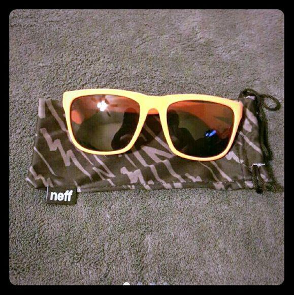 Neff Sunglasses Unisex Neff Bright Orange cute sunglasses. Never worm. No scratches. Spring Break is coming up soon. neff Accessories Sunglasses