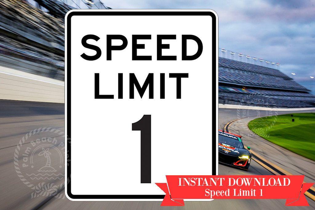 Printable Road Sign Speed Limit 4 - Printable Speed Limit