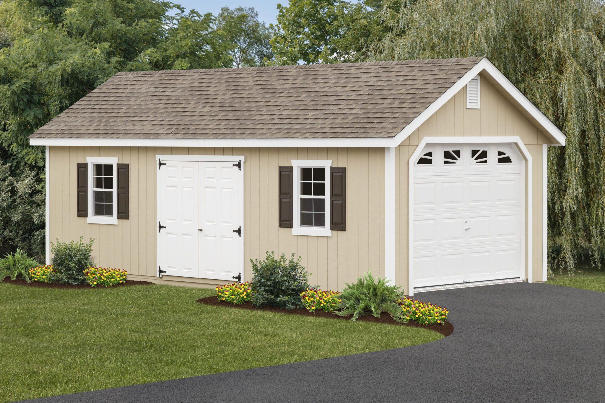 This 12 26 Fairmont Garage Is The Perfect Addition To Any Property Looking To Add More Storage Space Park Your Car Sto Garage Shed Shed Design Backyard Sheds