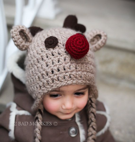 reindeer hat newborn baby christmas hat toddler christmas hat rudolf the red nose 3600 via etsy