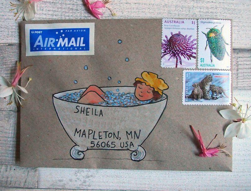 Mail art - my strange imagination Envelopes, Envelope art and - new letter envelope address format canada