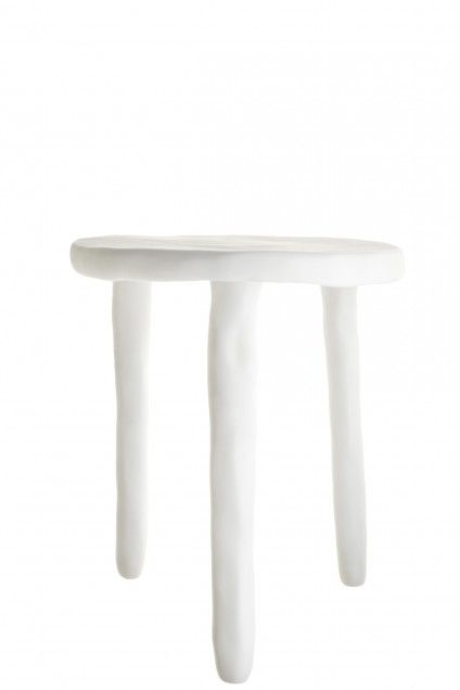 Our #sales has beautiful items for the home like this Resin Side Table! #decor #white #interior