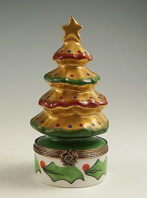 Limoges Peint Main Christmas Tree Box.