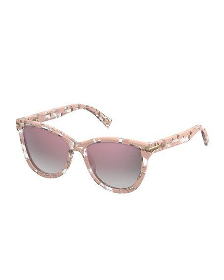 6f9bd1c5f0f MARC JACOBS Mirrored Iridescent Cat-Eye Sunglasses