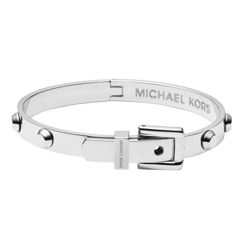 Michael Kors Astor Silver Plated Belt Bangle Jet Set Jewelry