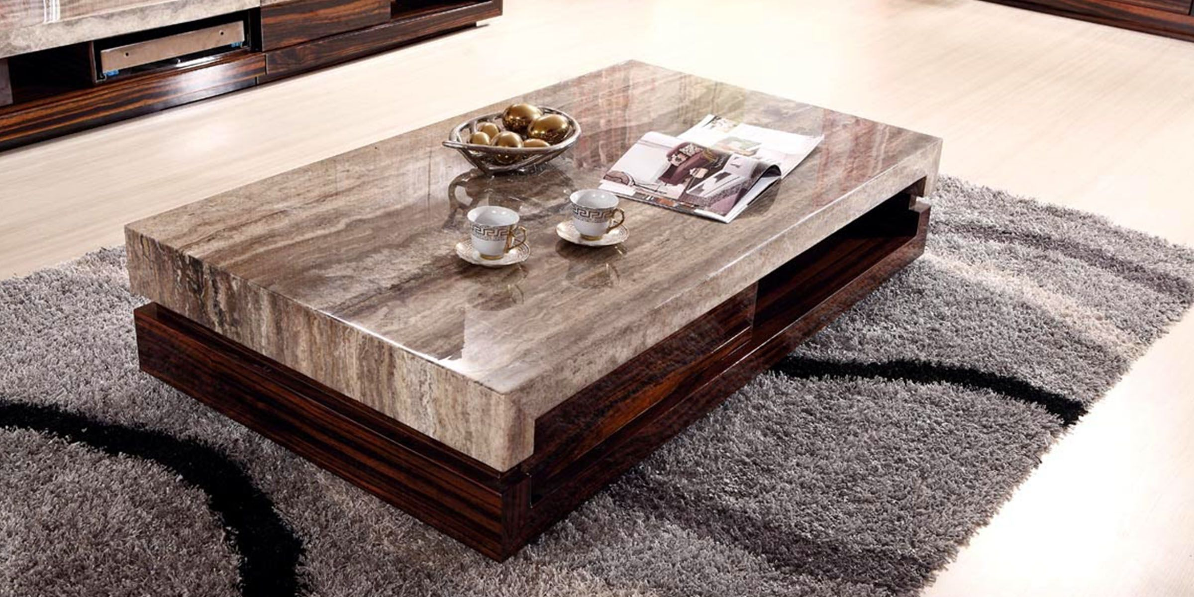 Walnut And Marble Mix Marvelously In The New Zaragosa Coffee Table | Wood Coffee  Tables, Marbles And Coffee