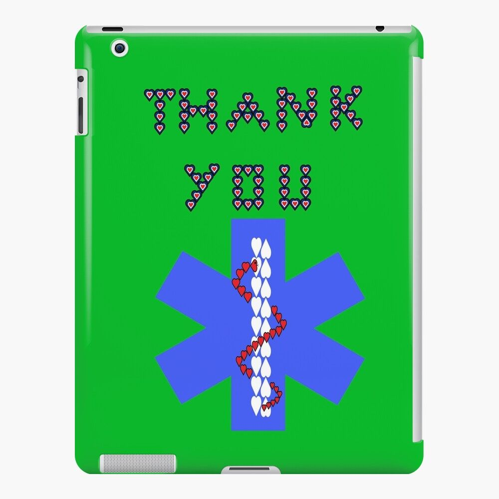 'Medical public health professionals star of life thank you green 2' iPad Retina/3/2 - Snap Case by joserodrigues13