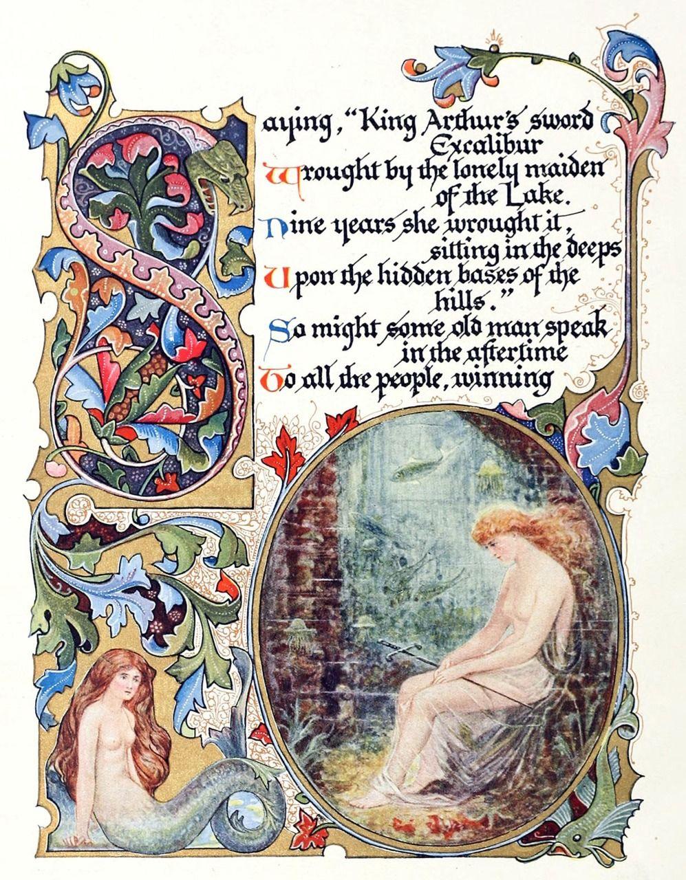 Alberto Sangorski, from Morte d'Arthur by Alfred, Lord Tennyson, London, 1912