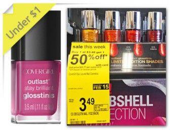 CoverGirl Mini Nail Gloss, Only $0.99 at Walgreens!