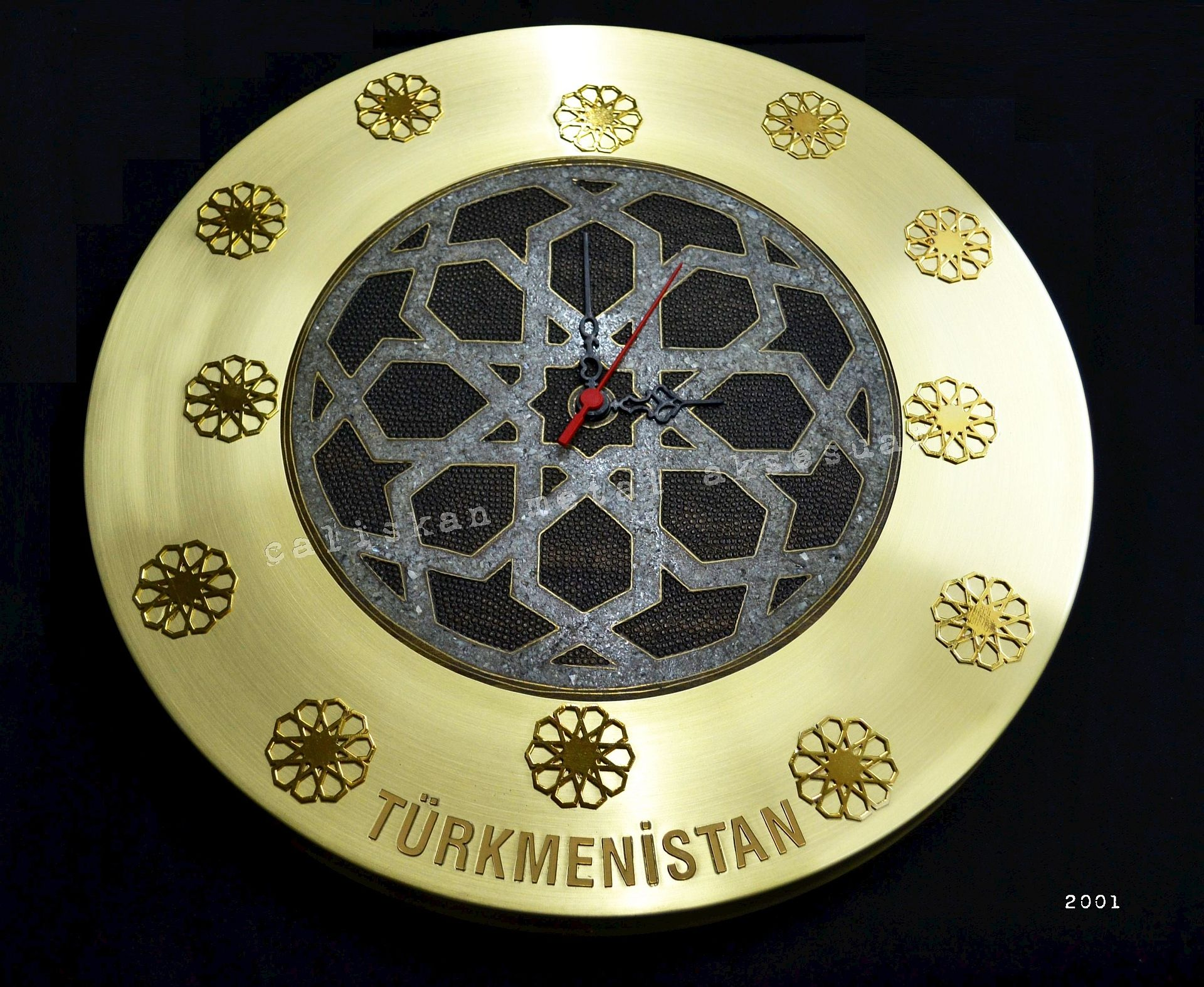 Promosyon Duvar Saati Tasarim Saat El Yapimi Sedef Kakma Pirinc Altin Wall Watch Wall Clock Custom Manufacturing Ostim Duvar Saati Duvar Tasarim