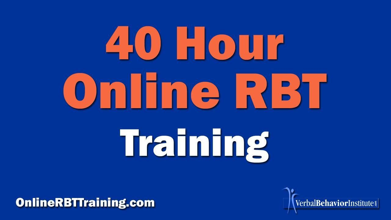 Online Registered Behavior Technician Rbt Training Program Behavior Analyst Behavior Special Education Certification
