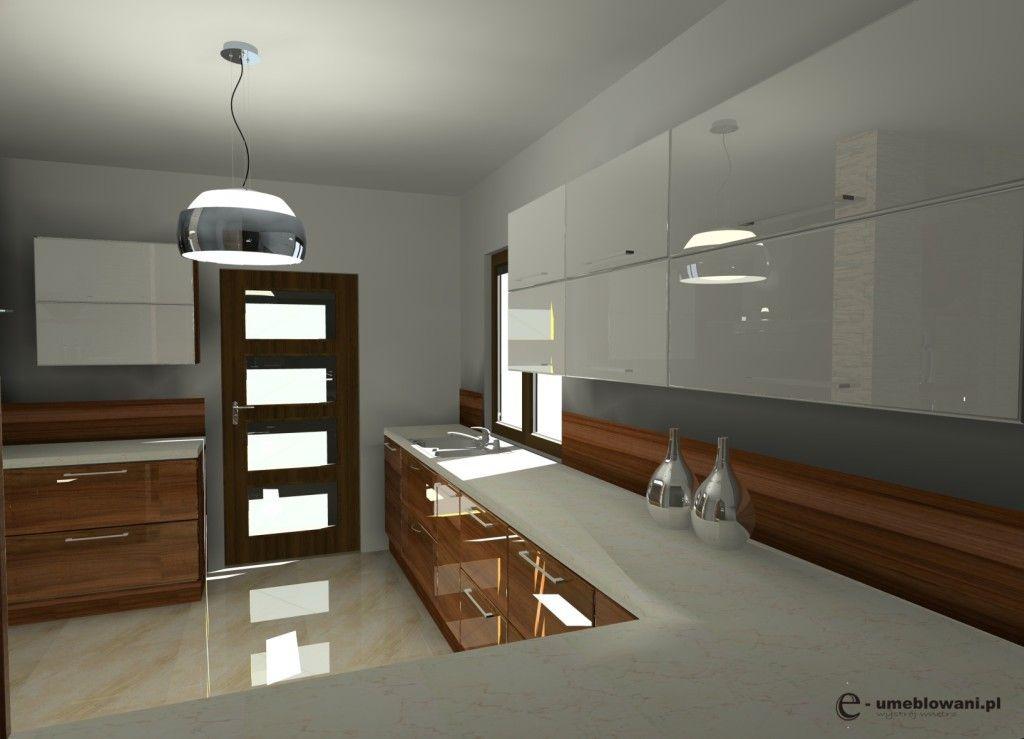 kuchnia z dwoma oknami, duże szuflady  Dom  Pinterest -> Mala Kuchnia Aranżacje Wnetrz