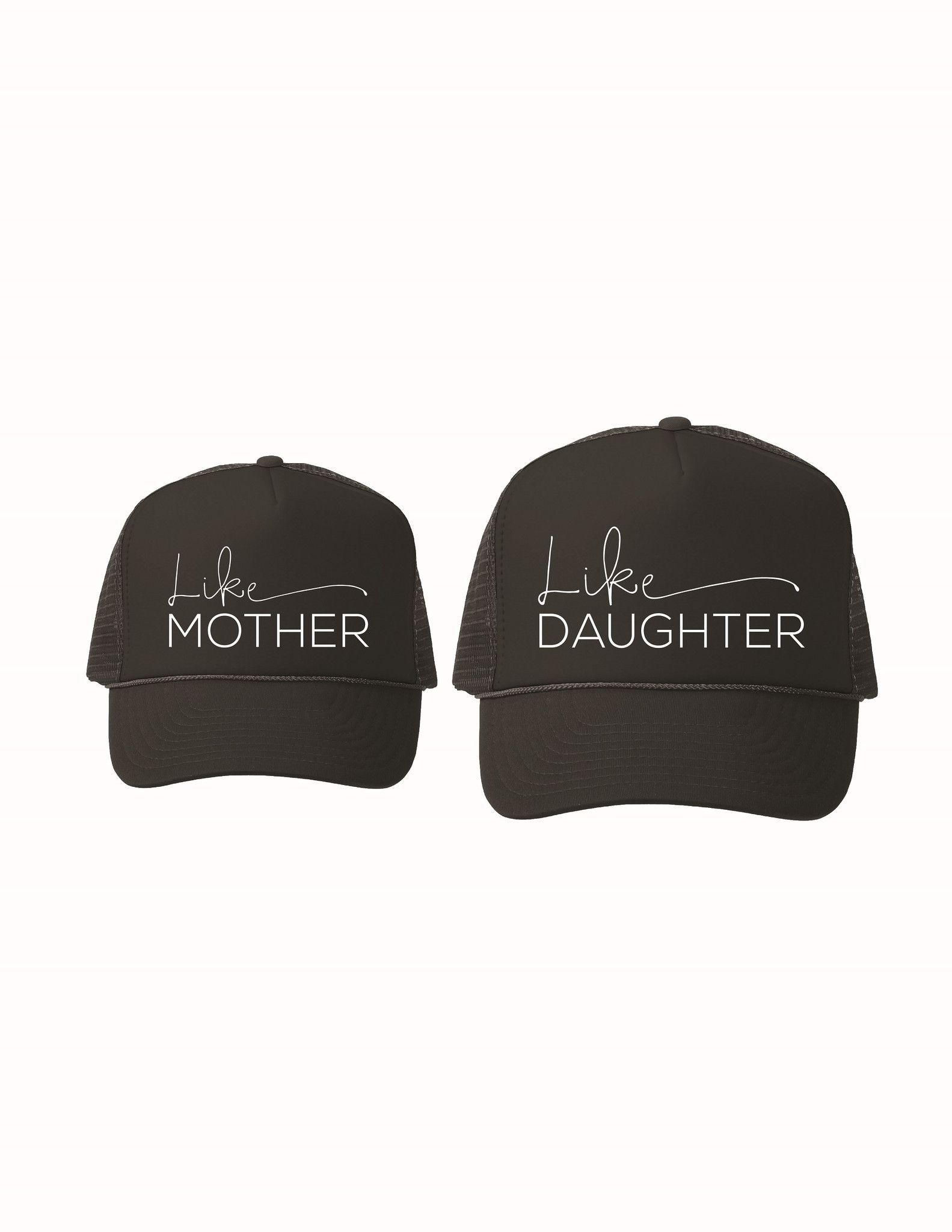 8d886ed96f0cb Like Mother Like Daughter Hat Set Black Trucker Hat