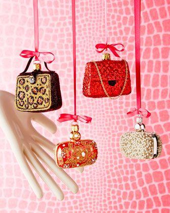 Handbag Christmas Ornaments At Neiman Marcus