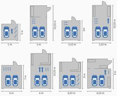 Haus bauen ideen mit garage  Planungsbeispiele Großraumgaragen | HWR | Pinterest | Hausbau ...