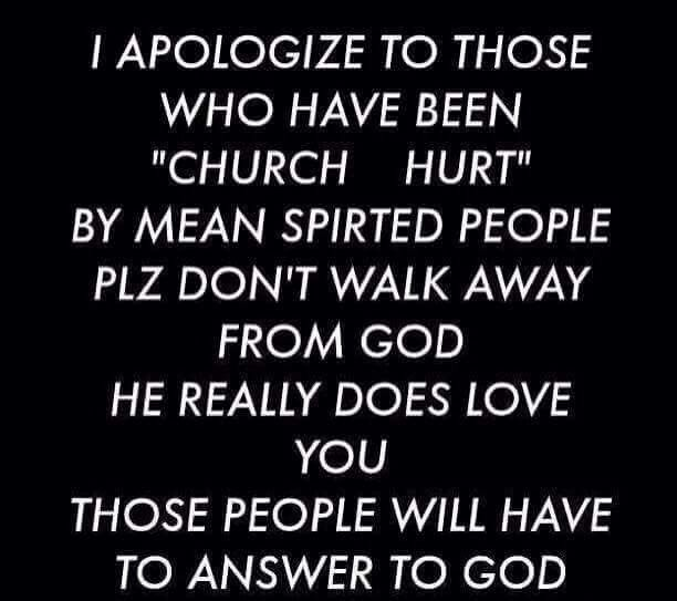 Church folks are not a sinners too...   Mean spirited people ...