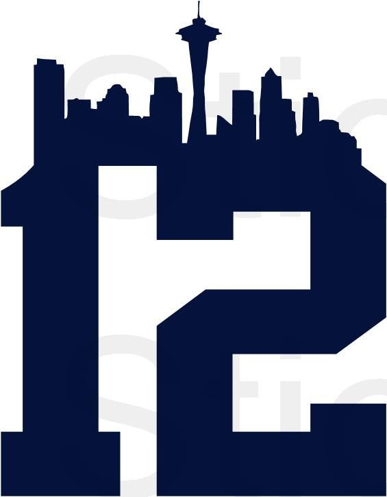 BOGO FREE! 12th Man Seattle Seahawks Vinyl Decal for Car Window, Wall, Crate, Laptop, Toolbox, Tackle box, any Clean Smooth Surface