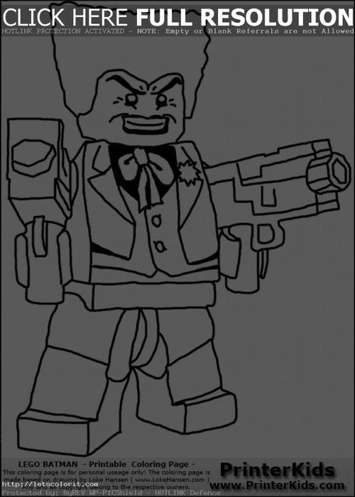 Lego Joker Holding Two Super Guns Coloring Page - Letscolorit.com ...
