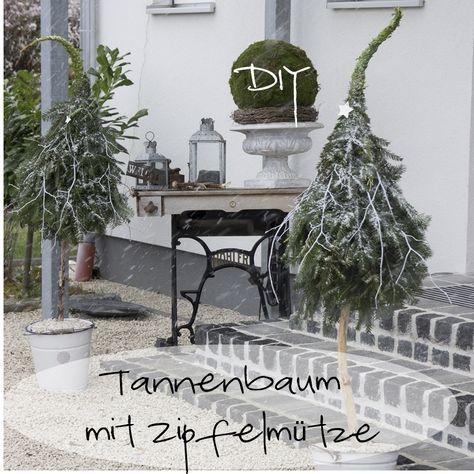 DIY Tannenbaum mit Zipfelmütze (CreativLIVE) #herbstdekoeingangsbereich