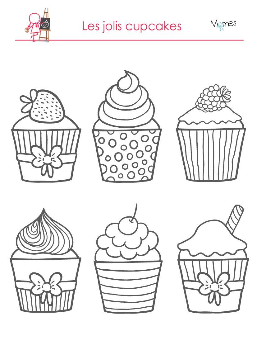 Coloriages les délicieux cupcakes