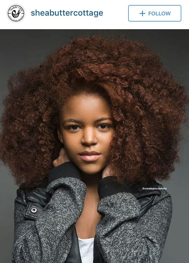 Beautiful stretched natural hair.