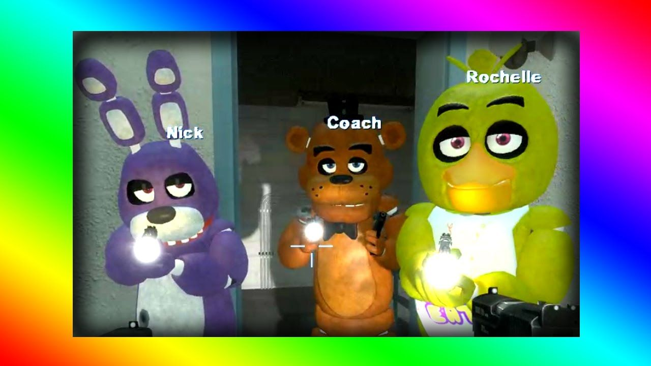 SCARY - Five Nights at Freddy's Pokemon Mod - Left 4 Dead 2 - Funny