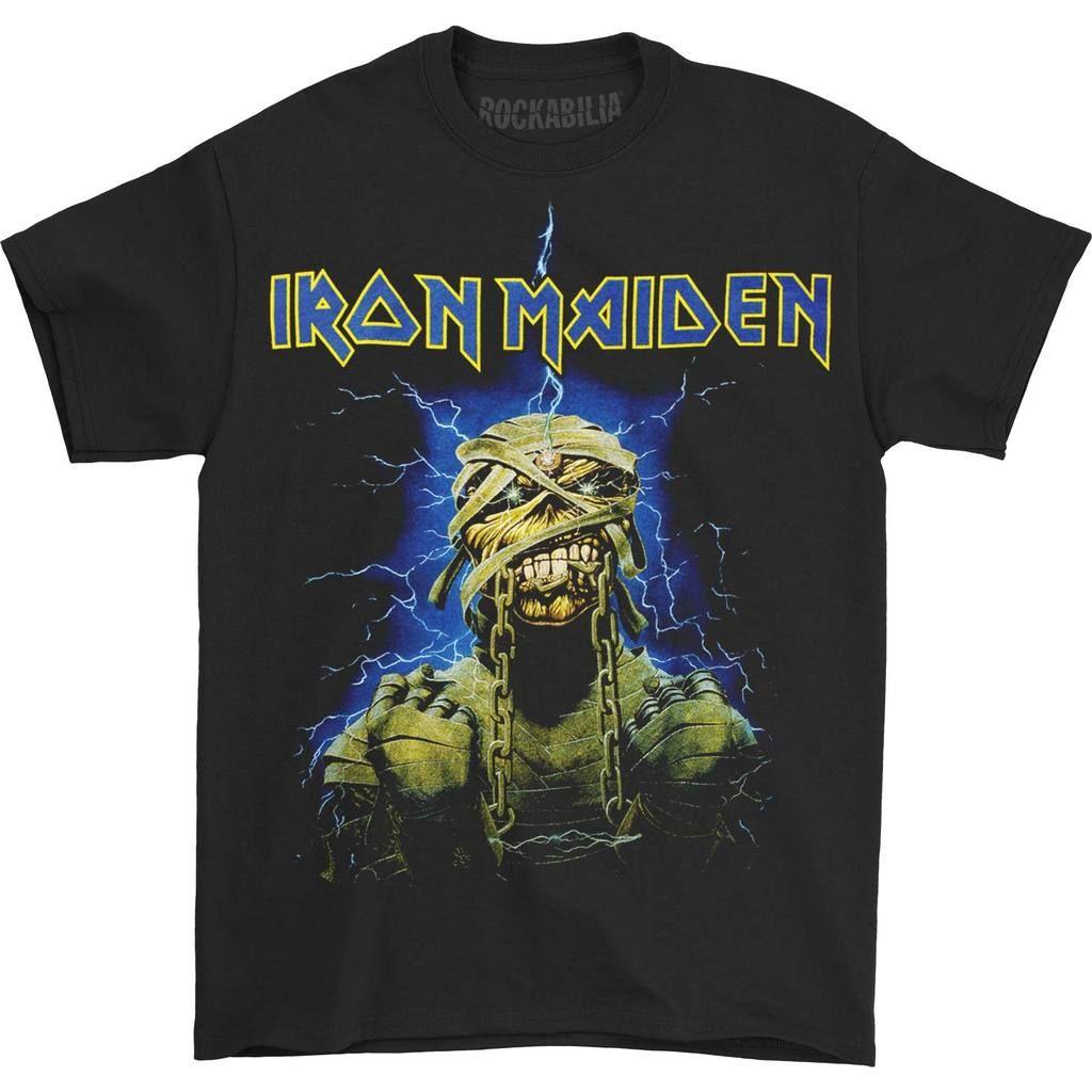 Powerslave Mummy T Shirt Iron Maiden T Shirt Iron Maiden Powerslave Metal Shirts How to make a mummy costume. pinterest