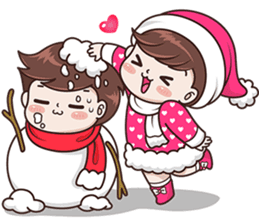 Boobib Happy Winter English Ver Line Stickers Line Store Cute Cartoon Pictures Cute Love Gif Cute Cartoon Images