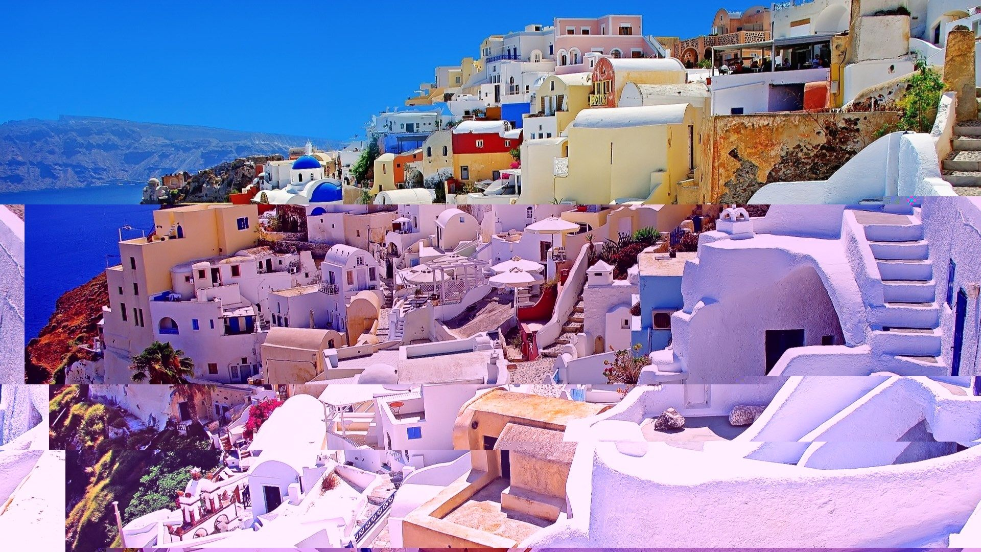 Free Desktop Wallpaper Of Santorini Greece