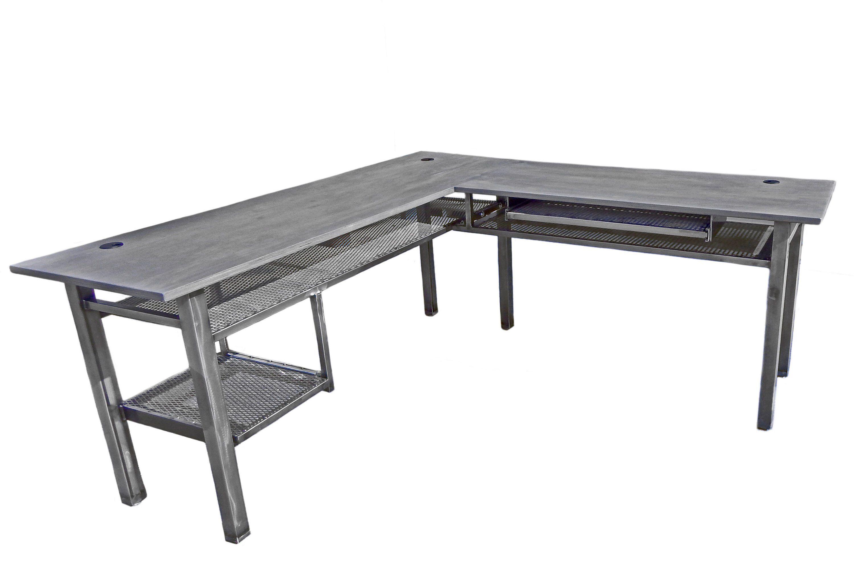 Industrial L Desk Or Corner Desk In Custom Configurations Modern
