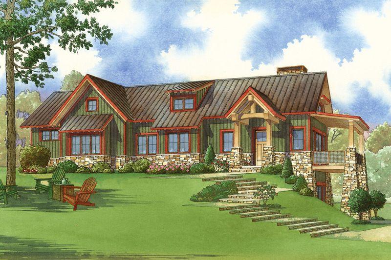 Craftsman Style House Plan 2 Beds 3 Baths 1921 Sq Ft Plan 923 23 In 2020 Rustic House Plans Craftsman Style House Plans Home Design Floor Plans